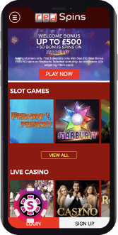 Red Spins Casino Mobile