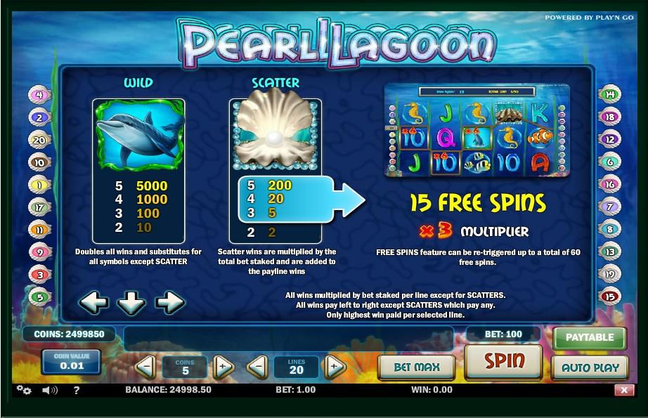 Pearl Lagoon Slot Machine
