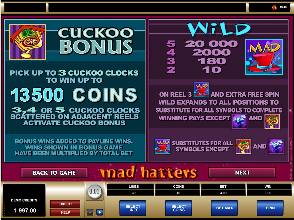 Enjoy The Mad Hatters Slots With No Download