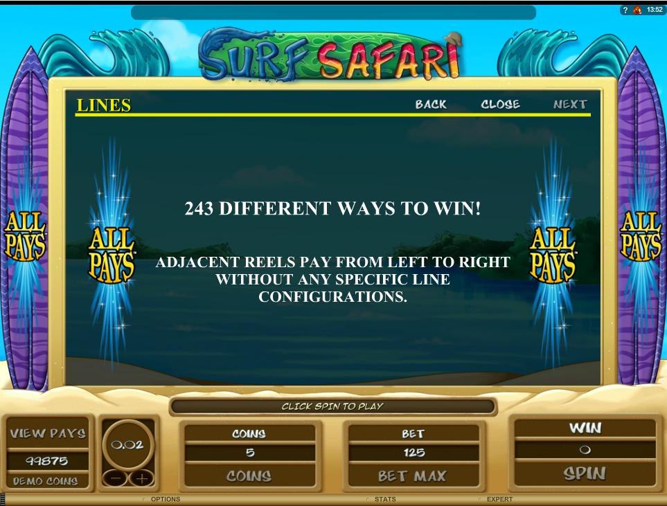 Surf Safari Slot Machine