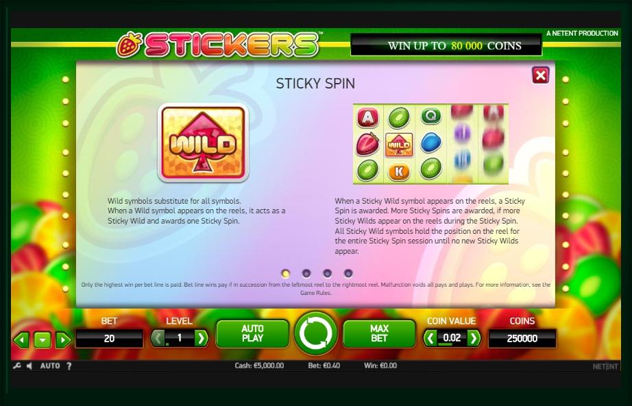 Stickers Slot Machine