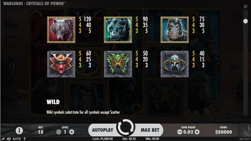 Magic Crystals Power Slot Machine