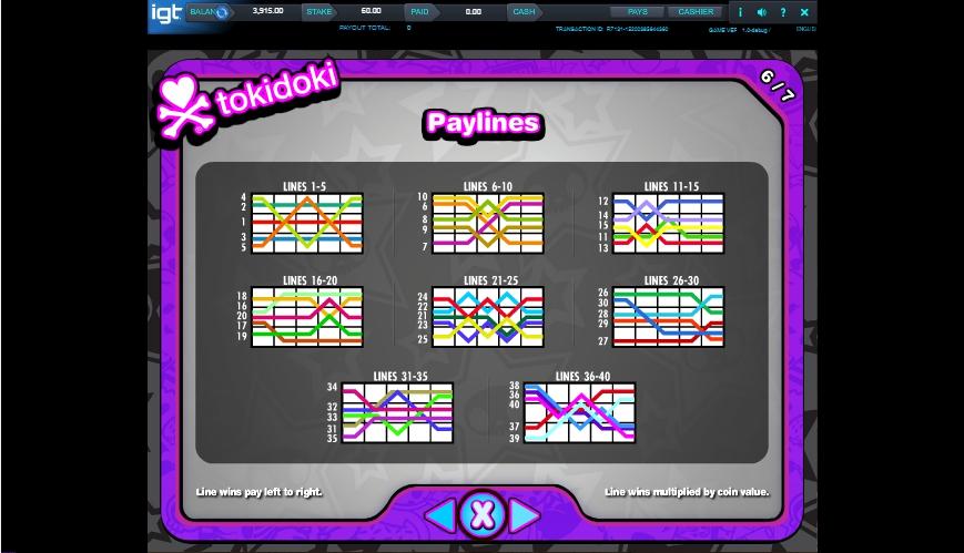 Tokidoki Lucky Town Slot Machine