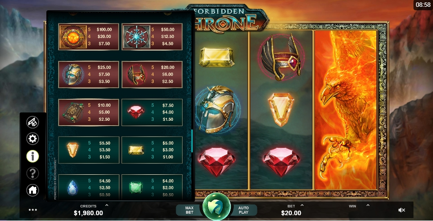 Play Forbidden Throne Slot Online