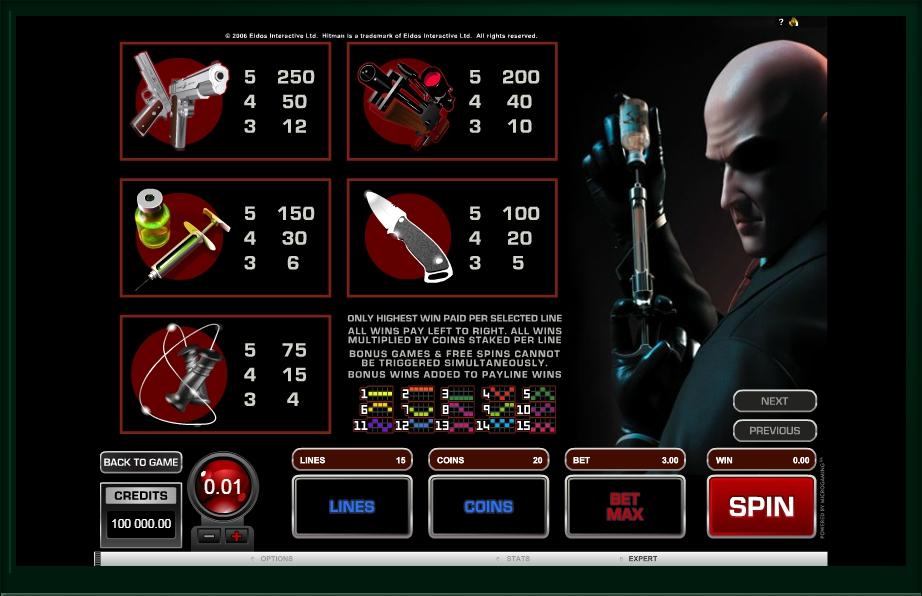 Hitman Slot Machine