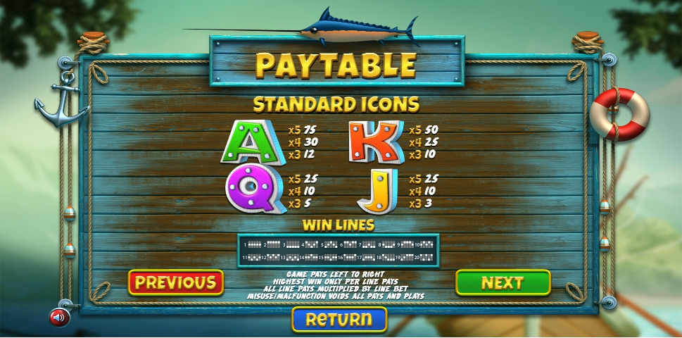The Angler Slot Machine