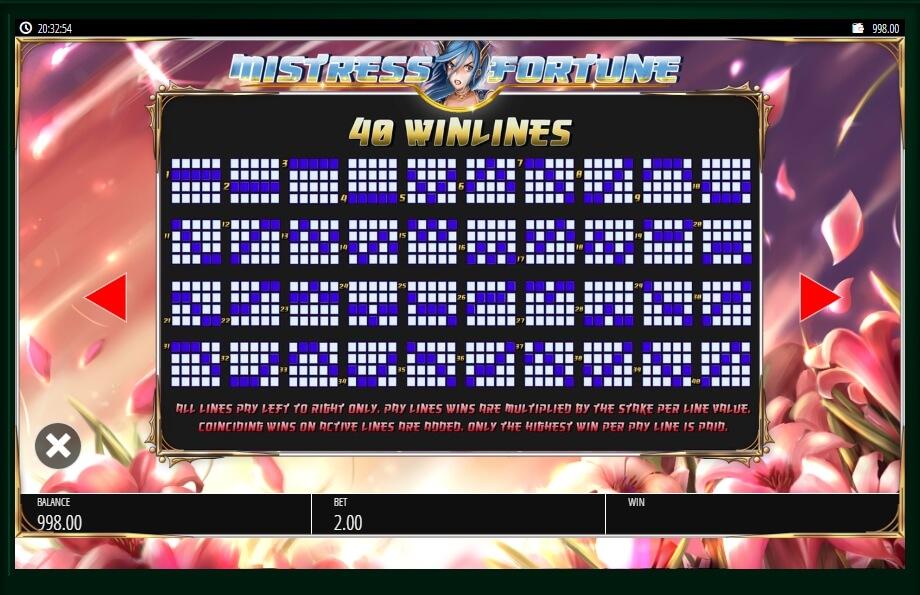 Mistress Of Fortune Slot Machine