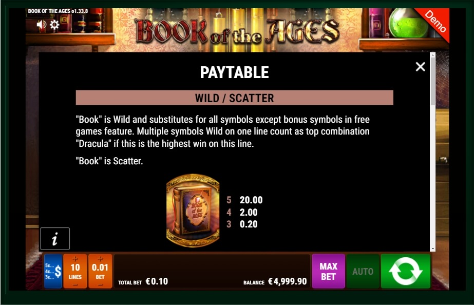 Book Of The Ages Slot Machine