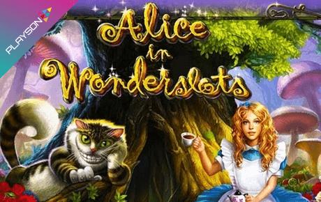 Alice In Wonderslots Playson